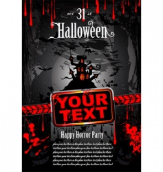 Halloween grunge flyer vector image