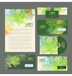 Decorative corporate identity artistic ornament vector