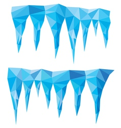 blue crystal icicles vector image