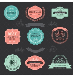 Set of vintage bicycle badge labels vector