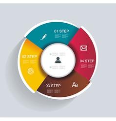 3d design infographics for presentations vector
