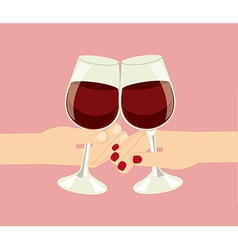 Wine cups vector