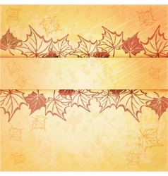 Autumn maple leaf frame with copy space on vector