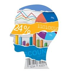Economist sales manager head silhouette vector