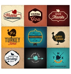 Thanksgiving day design elements cards posters vector