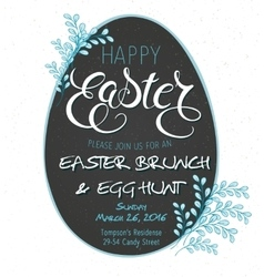 Easter day party invitation vector