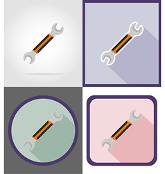 Repair tools flat icons 15 vector