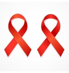 AIDS Ribbon Set vector image