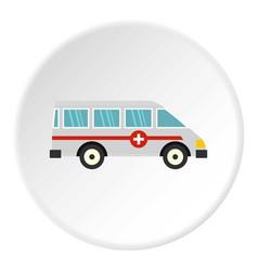 Ambulance car icon circle vector