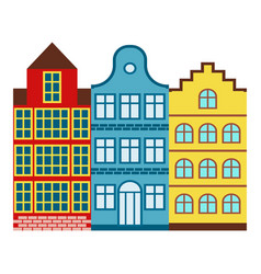 amsterdam house tourism travel design famous vector image