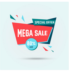 Big sale 80 off template - modern vector