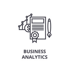 business analytics line icon outline sign linear vector image vector image