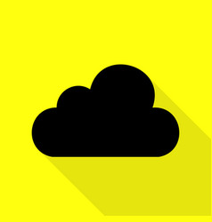 Cloud sign black icon with flat vector