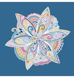 Colorful ornamental round flower vector