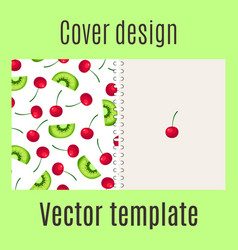 cover design with fruits pattern vector image vector image
