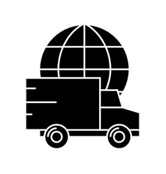delivery worldwide icon vector image