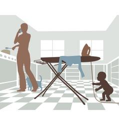 Domestic danger vector image