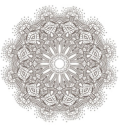 Ethnic fractal mandala meditation looks like vector