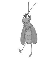 Grasshopper smiling on white vector