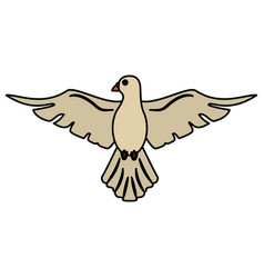 Holy spirit dove symbol peace vector