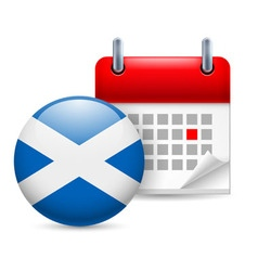 Icon of national day in scotland vector image vector image