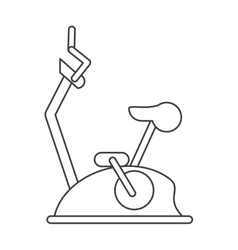 Outline bike static machine fitness gym vector