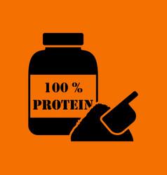 Protein conteiner icon vector