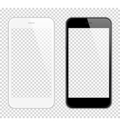 Realistic smart phone Mock Up Fully Re vector image
