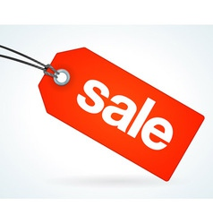 Red Sale Tag vector image vector image