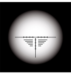 rifle scope vector image vector image