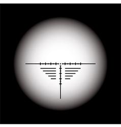 rifle scope vector image
