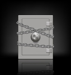 safe wrapped metal chain vector image vector image
