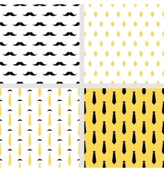 Set of printable seamless hipster patterns vector image