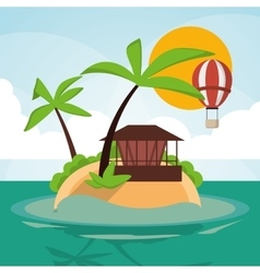 Vacations paradise island travel vector