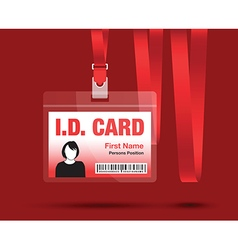 id card woman red vector image
