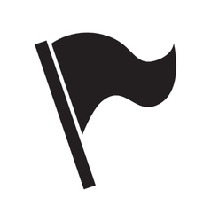 Flag simple icon vector