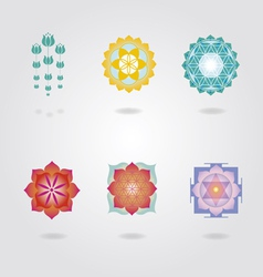 Mini Mandalas set vector image