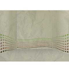Crumpled paper vector image