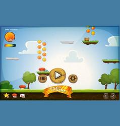 Platform game user interface for tablet vector