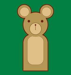 Puppet bear vector