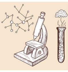 School props chemistry vector image