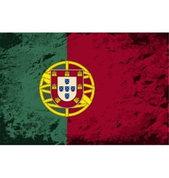 Portuguese flag grunge background vector