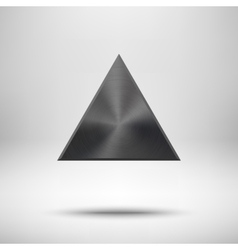 Black Abstract Triangle Button Template vector image