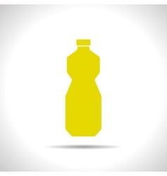 Flat sunflower oil bottle vector
