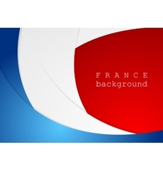 Corporate wavy bright abstract background french vector