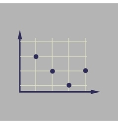 Flat web icon on stylish background economy graph vector
