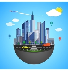 Urban earth concept vector