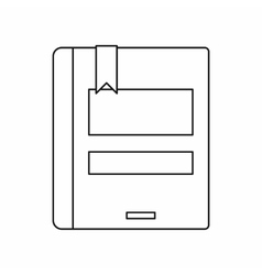 Closed book icon outline style vector