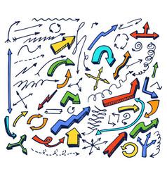 arrows hand drawn elements vector image