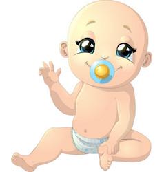 Beautiful cute baby vector